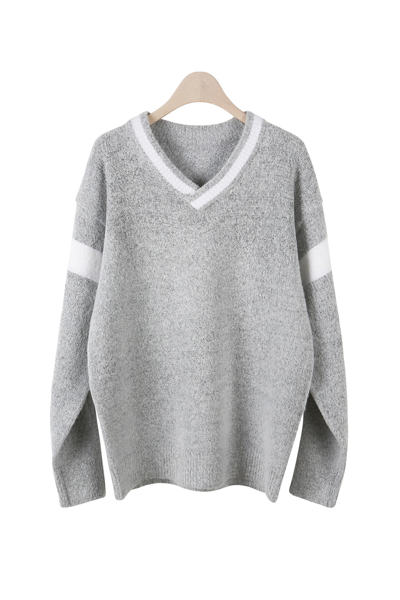 APS V NECK KNIT SWEATER [2 COLORS]