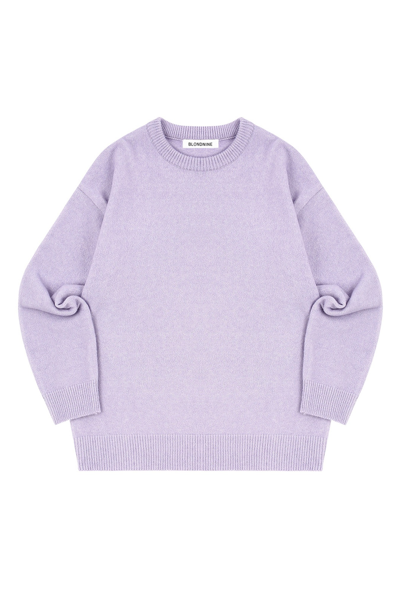 MELANGE ROUND NECK SWEATER_PURPLE