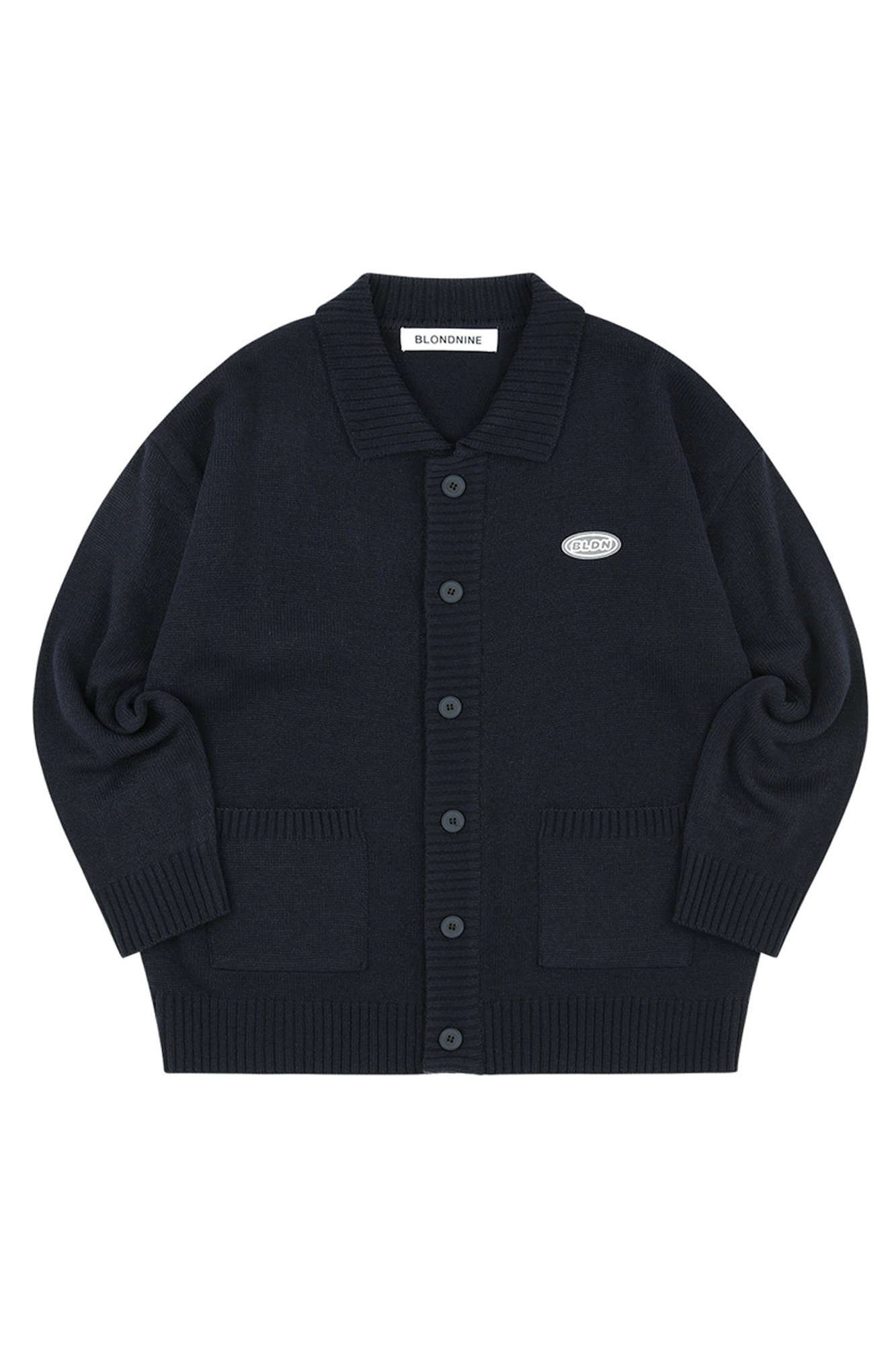 COLLAR KNIT CARDIGAN_NAVY