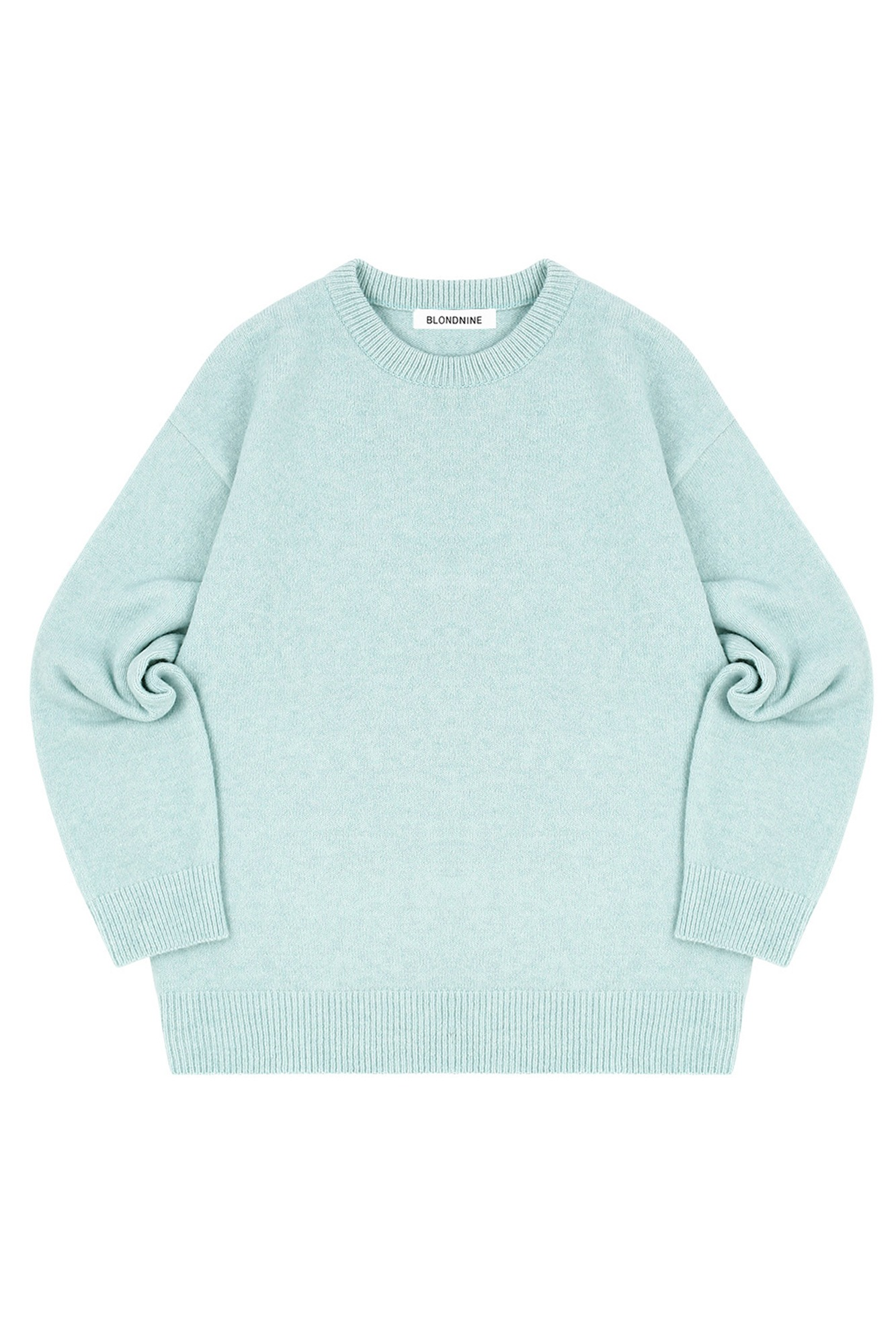 MELANGE ROUND NECK SWEATER_MINT