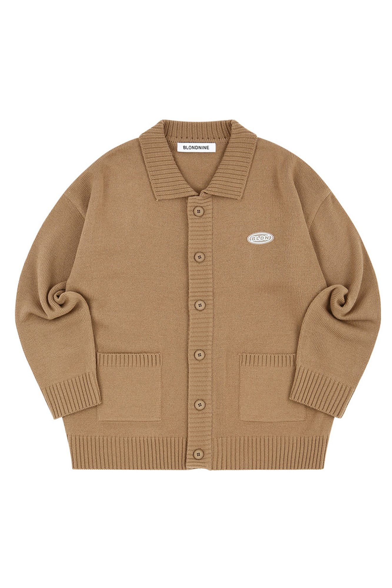 COLLAR KNIT CARDIGAN_CAMEL