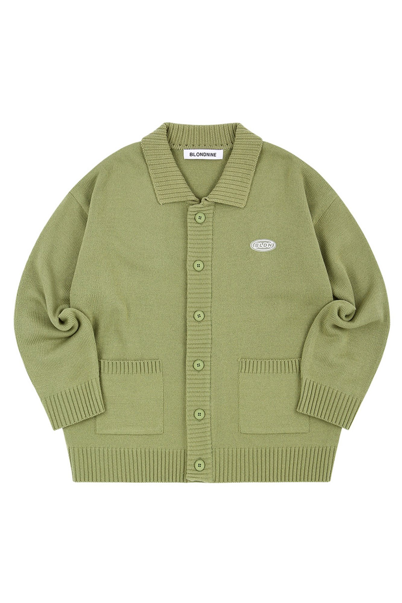 COLLAR KNIT CARDIGAN_OLIVE
